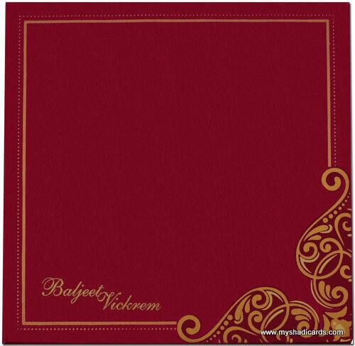 Hard Bound Wedding Cards - HBC-7407G - 3
