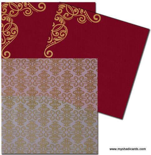 Hard Bound Wedding Cards - HBC-7407G - 4