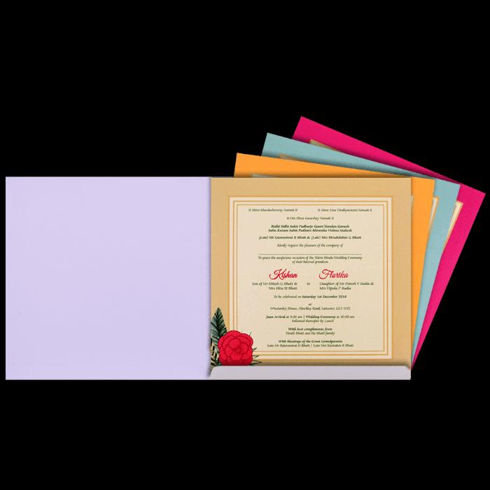 Hindu Wedding Cards - HWC-8902 - 3