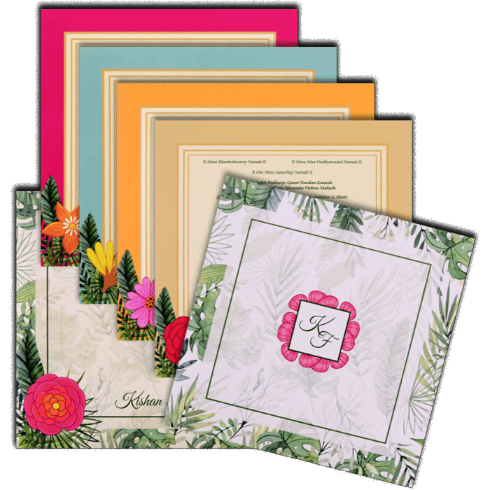 Hindu Wedding Cards - HWC-8902 - 5