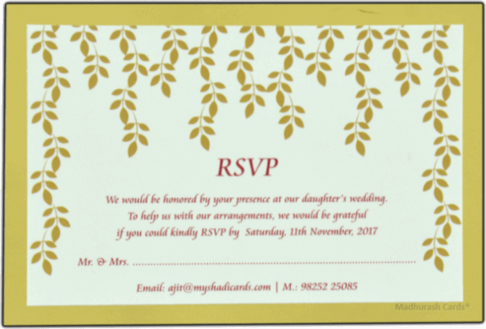 Hindu Wedding Cards - HWC-9534 - 4