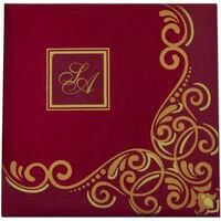 Hard Bound Wedding Cards - HBC-7407I