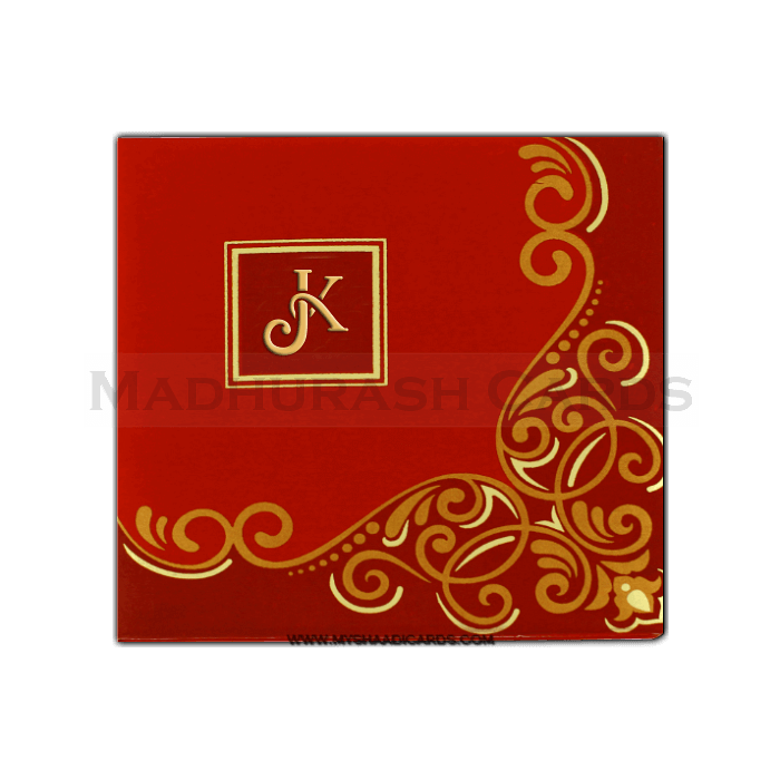 test Hard Bound Wedding Cards - HBC-7407I