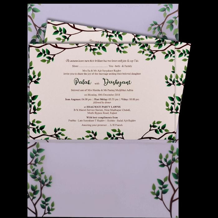 Custom Wedding Cards - CZC-9460 - 4