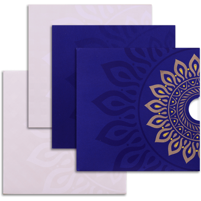 Hindu Wedding Cards - HWC-9054BC - 4