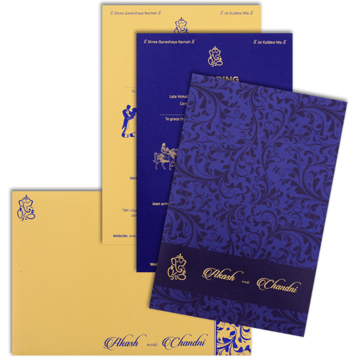 Muslim Wedding Cards - MWC-9068BG - 4
