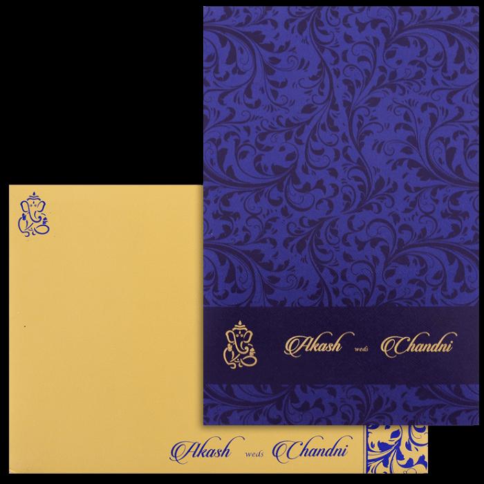 Hindu Wedding Cards - HWC-9068BG