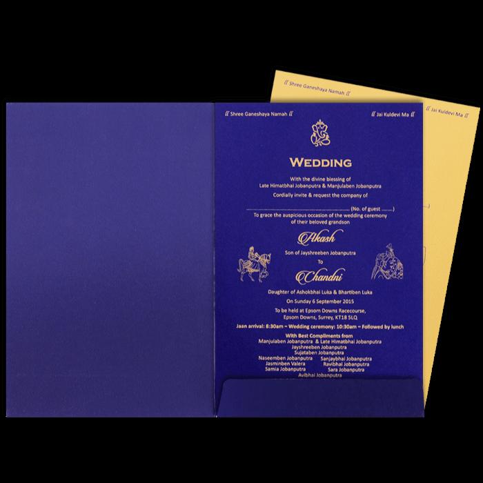 Hindu Wedding Cards - HWC-9068BG - 5