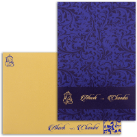 Sikh Wedding Cards - SWC-9068BG