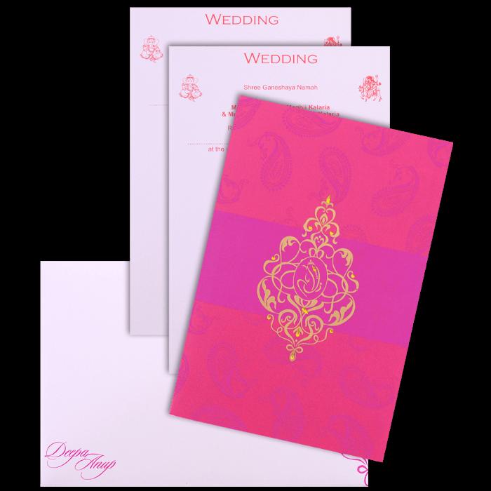 Hindu Wedding Cards - HWC-9069PG - 4