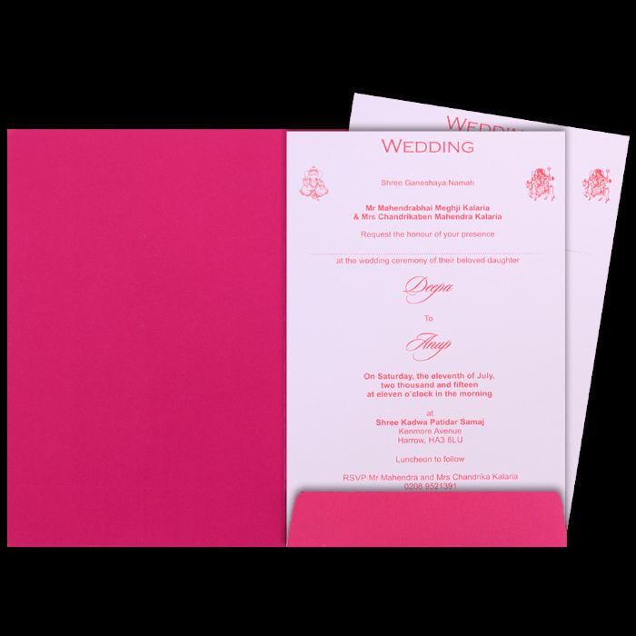 Hindu Wedding Cards - HWC-9069PG - 5