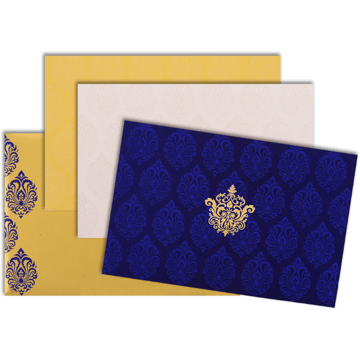 Hindu Wedding Cards - HWC-9117BG - 4
