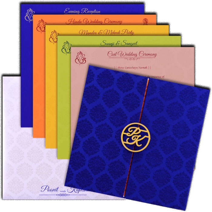 Muslim Wedding Cards - MWC-9436 - 5