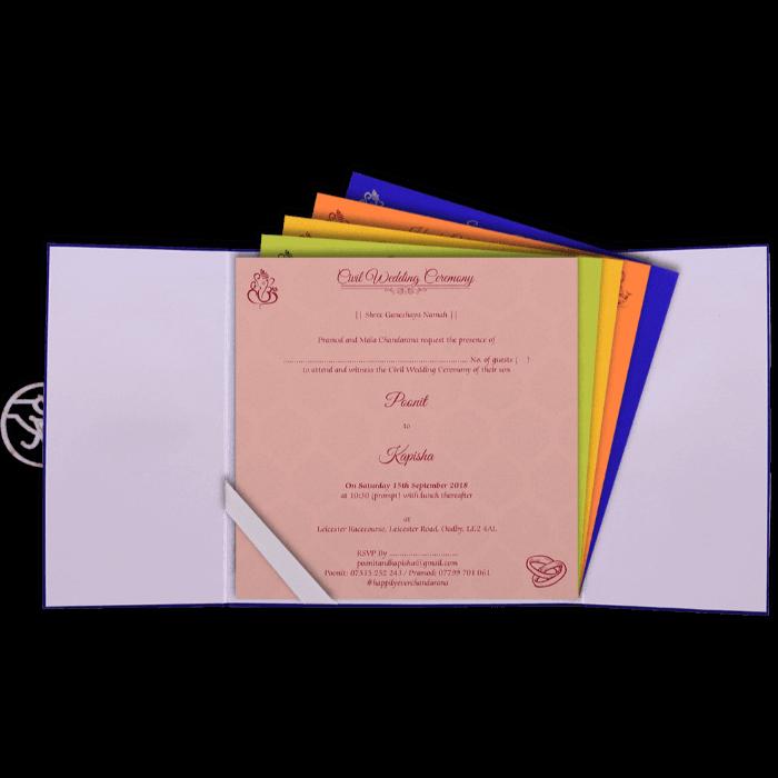 Hindu Wedding Cards - HWC-9436 - 3