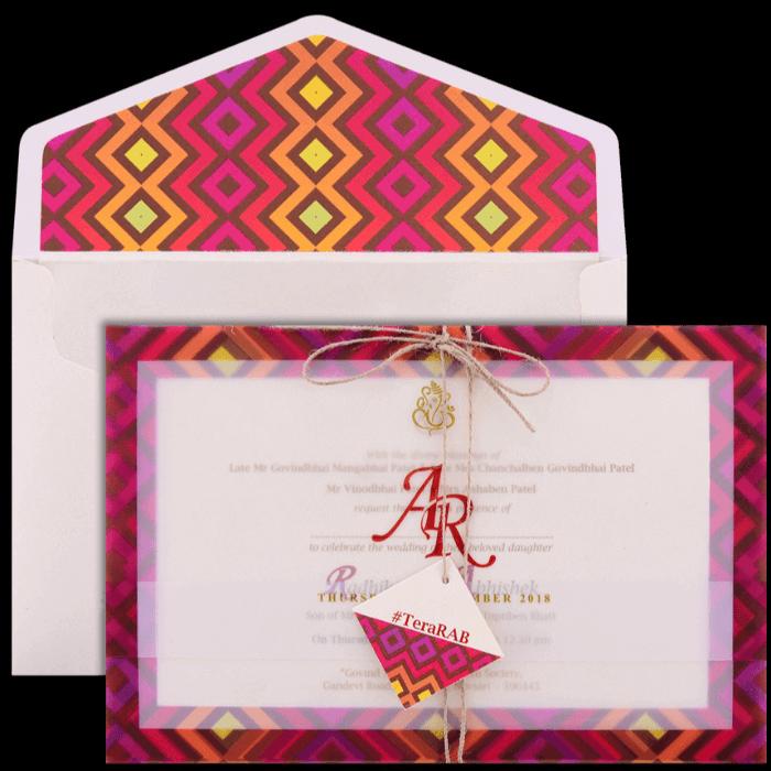 Hindu Wedding Cards - HWC-9437