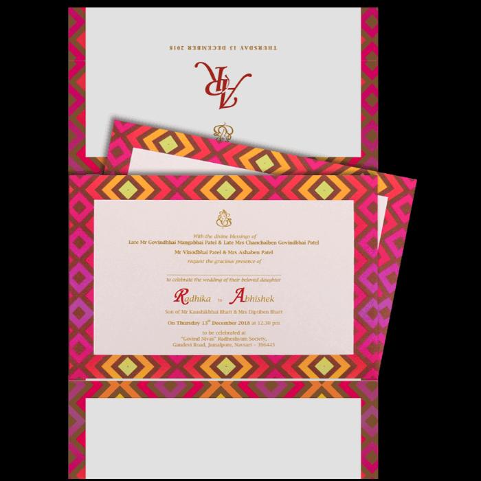 Hindu Wedding Cards - HWC-9437 - 3