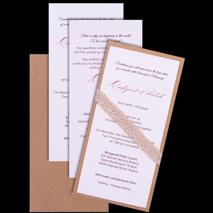 Muslim Wedding Cards - MWC-9501 - 4