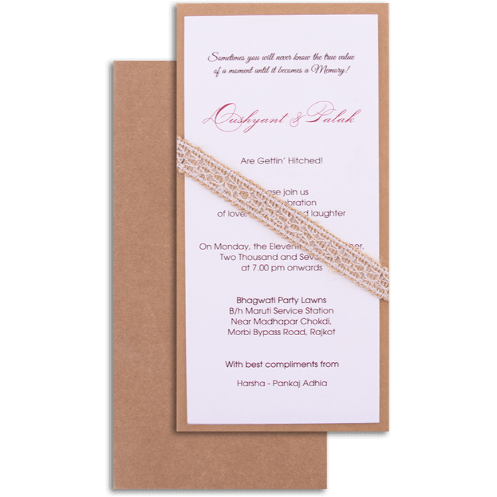 Hindu Wedding Cards - HWC-9501