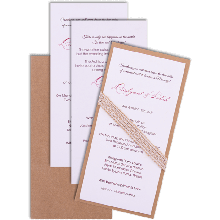 Hindu Wedding Cards - HWC-9501 - 4