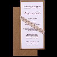 Kraft Wedding Invitations - KWC-9501