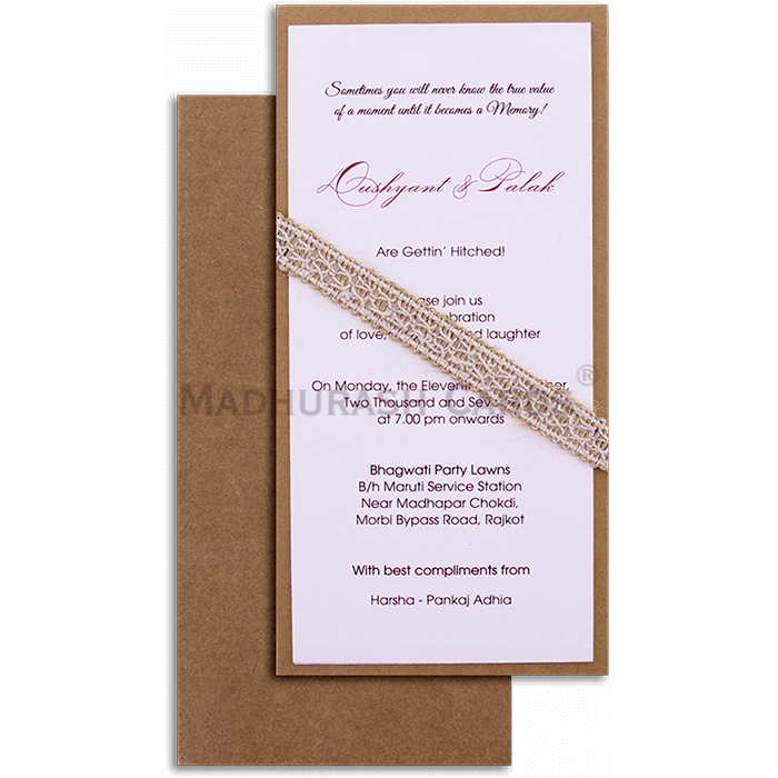 test Kraft Wedding Invitations - KWC-9501