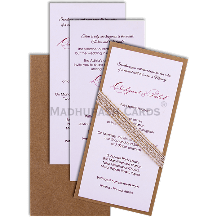 Kraft Wedding Invitations - KWC-9501 - 4