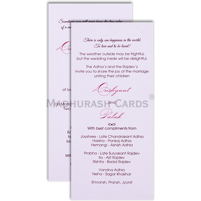 Kraft Wedding Invitations - KWC-9501 - 5