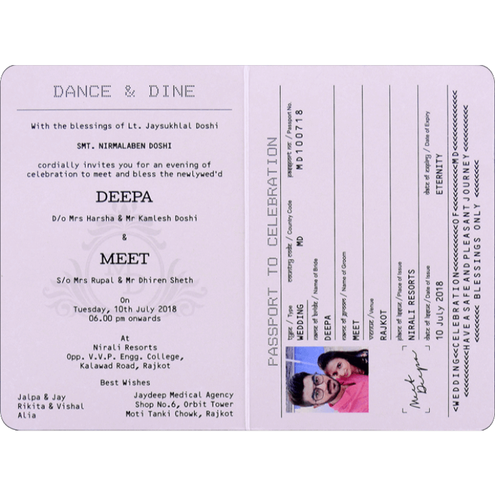 Hindu Wedding Cards - HWC-8971 - 3