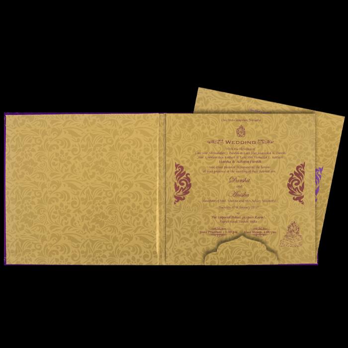 Fabric Wedding Cards - FWI-7447I - 3