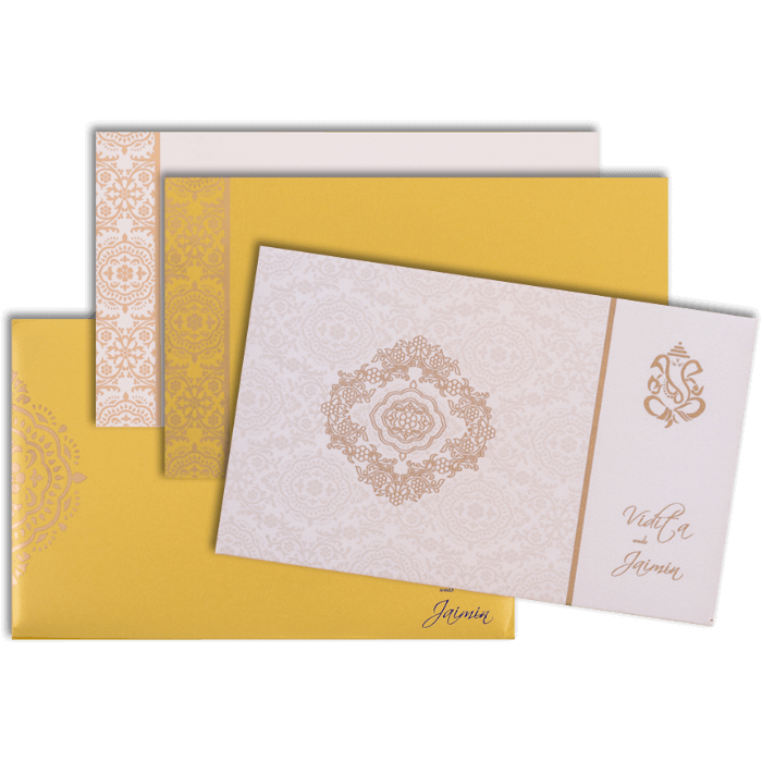 Hindu Wedding Cards - HWC-7331 - 4