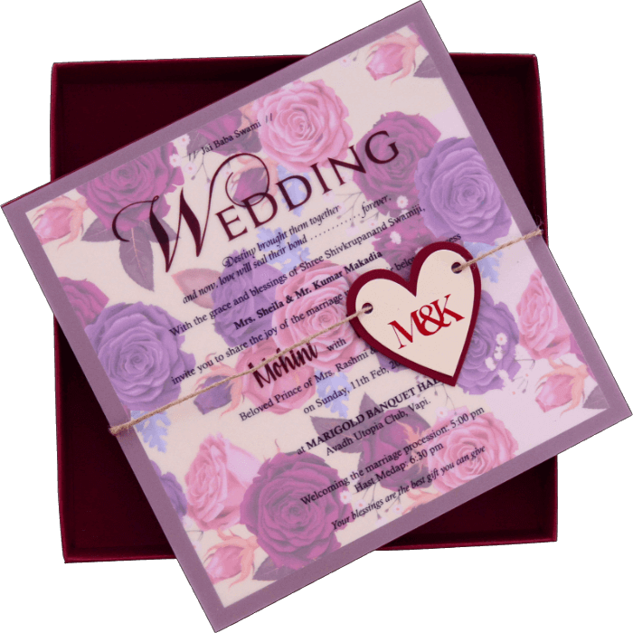 Hindu Wedding Cards - HWC-9402 - 3