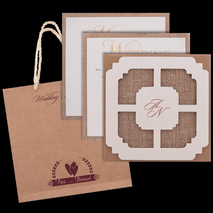Hindu Wedding Cards - HWC-9403 - 5