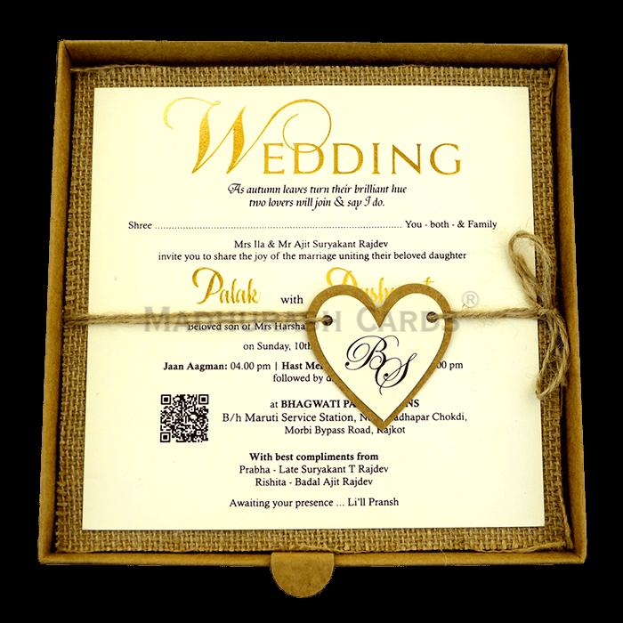 Kraft Wedding Invitations - KWC-9403 - 4