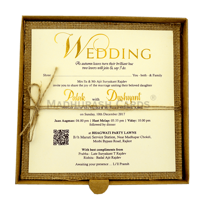 Kraft Wedding Invitations - KWC-9404 - 4