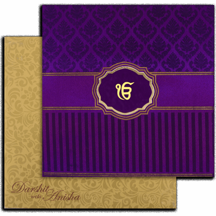 Fabric Wedding Cards - FWI-7447S