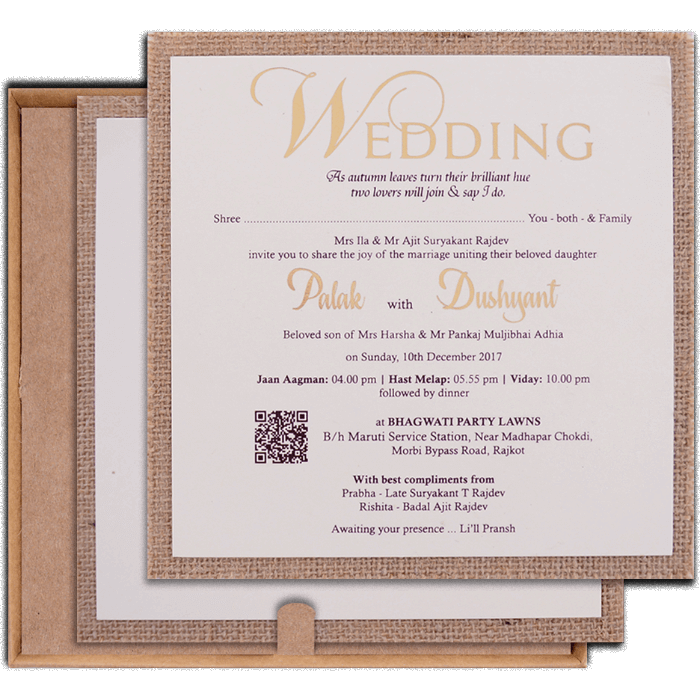 Hindu Wedding Cards - HWC-9405 - 3
