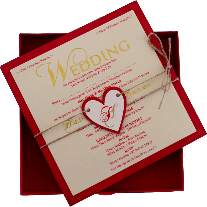 Hindu Wedding Cards - HWC-9421R