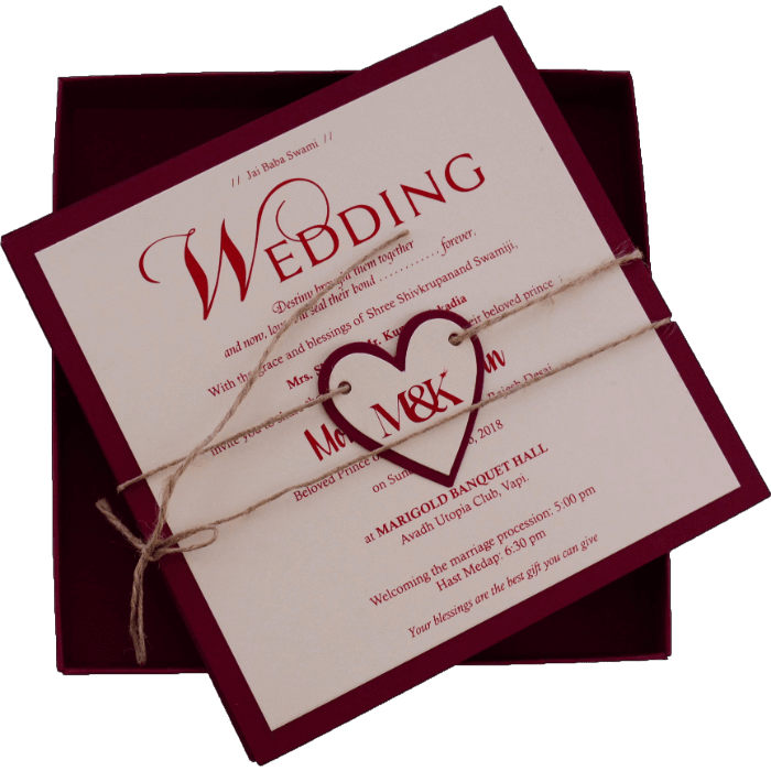 Muslim Wedding Cards - MWC-9421M - 3