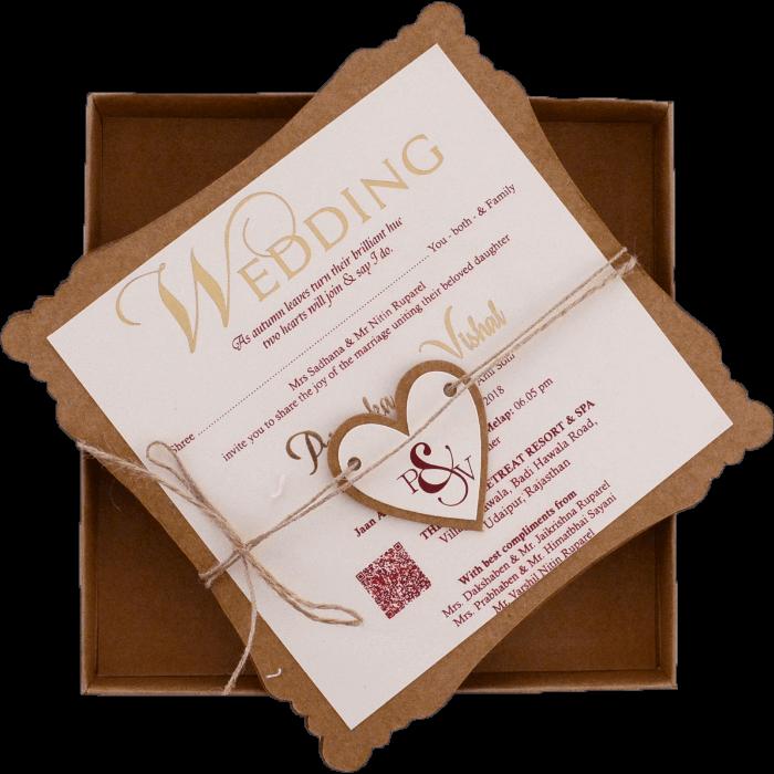 Hindu Wedding Cards - HWC-9421D