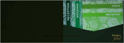 Hindu Wedding Cards - HWC-9041GG - 3