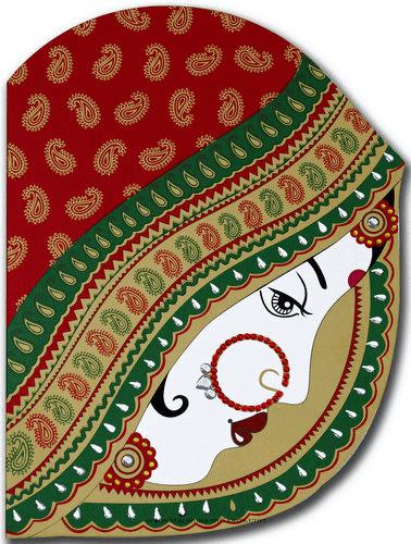 Muslim Wedding Cards - MWC-9016RG