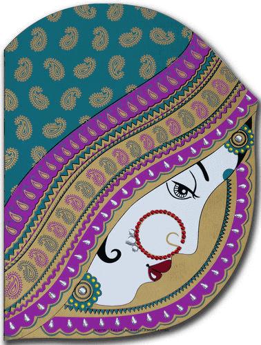 Muslim Wedding Cards - MWC-9016PBV