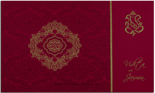 Hindu Wedding Cards - HWC-7332