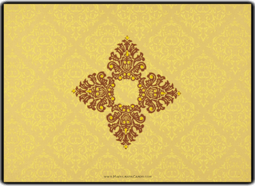 Muslim Wedding Cards - MWC-8832GG