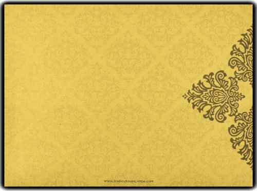 Muslim Wedding Cards - MWC-8832GG - 3