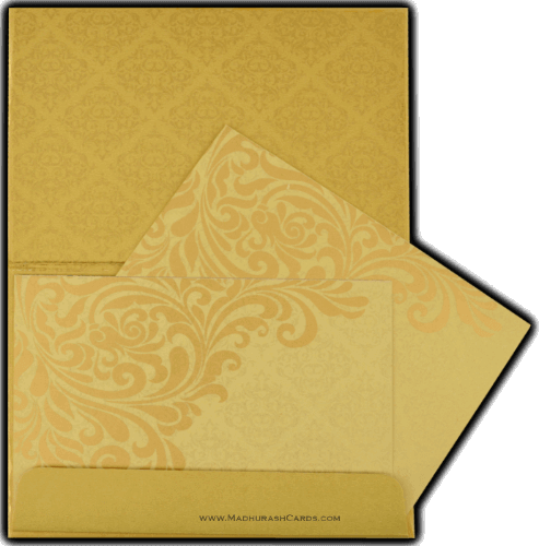 Muslim Wedding Cards - MWC-8832GG - 4
