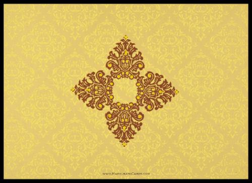 Hindu Wedding Cards - HWC-8832GG