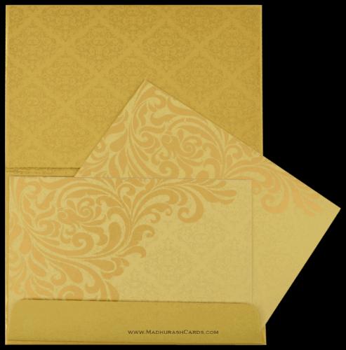Hindu Wedding Cards - HWC-8832GG - 4
