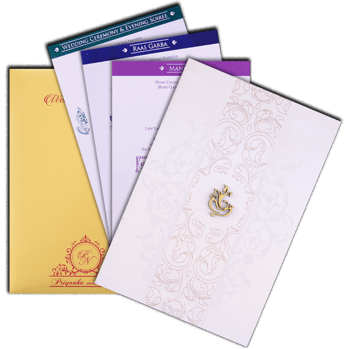 Hindu Wedding Cards - HWC-9108