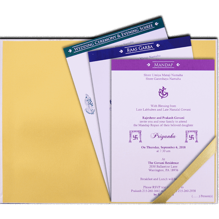 Hindu Wedding Cards - HWC-9108 - 3